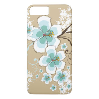 Tropical Summer Beach Blue Hibiscus Flower Case