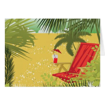 Beach Themed Tropical Summer Beach Card