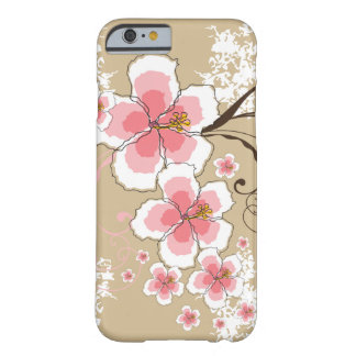 Tropical Summer Beach Pink Hibiscus Flower Grunge Barely There iPhone 6 Case