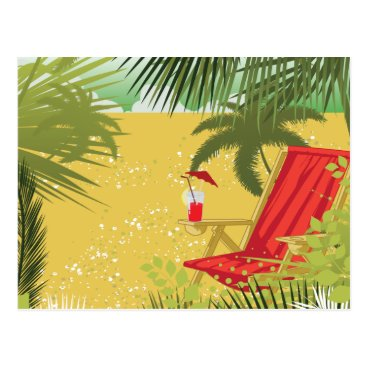Beach Themed Tropical Summer Beach Postcard