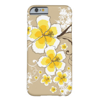 Tropical Summer Beach Yellow Grunge Hibiscus Chic Barely There iPhone 6 Case