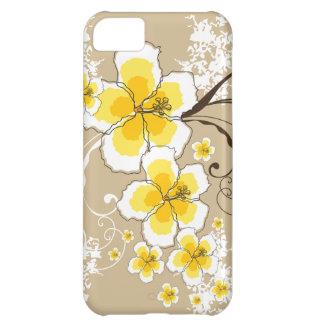 Tropical Summer Beach Yellow Grunge Hibiscus Chic iPhone 5C Covers