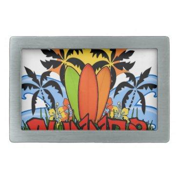 Beach Themed Tropical summer belt buckle