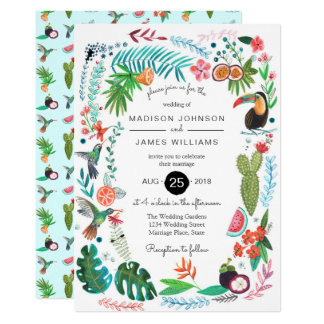 Tropical Summer Birds | Wedding Invitations