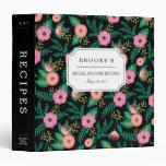 Tropical Summer Blooms Bridal Shower Recipe Binder
