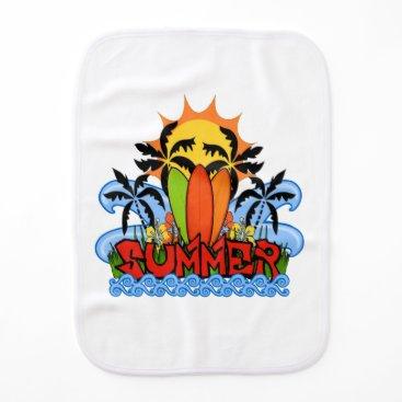 Beach Themed Tropical summer burp cloth