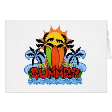 Beach Themed Tropical summer card