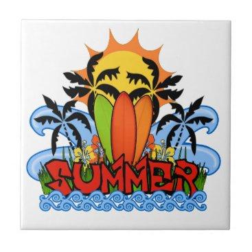 Tropical summer ceramic tile
