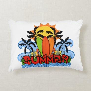 Beach Themed Tropical summer decorative pillow