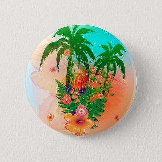 Tropical summer design button