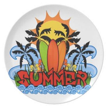 Tropical summer dinner plate