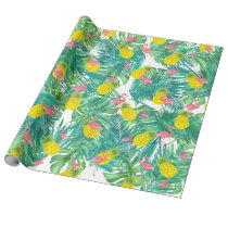 tropical summer exotic pattern wrapping paper