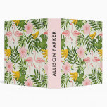 Tropical Summer Flamingo Pink Personalized Binder