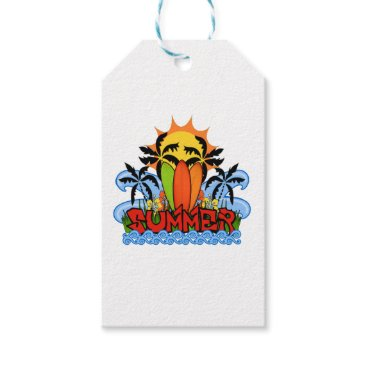 Beach Themed Tropical summer gift tags