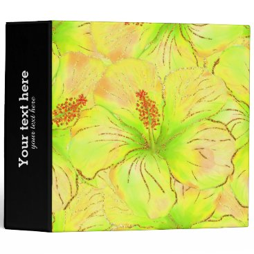 Beach Themed Tropical Summer glitter 3 Ring Binder