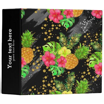 Beach Themed Tropical Summer glitter Binder