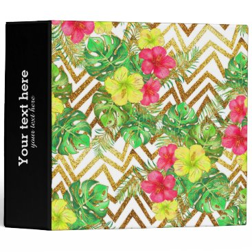 Professional Business Tropical Summer glitter Binder