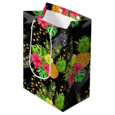 Beach Themed Tropical Summer glitter Medium Gift Bag