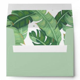 Tropical Summer Invitation envelope