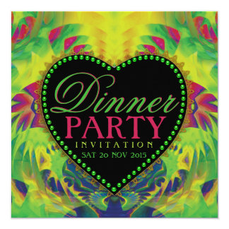 Tropical Summer Love Dinner Party Invitations