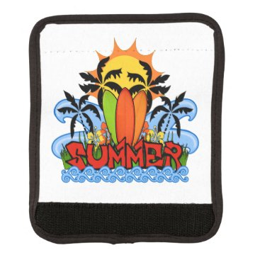 Beach Themed Tropical summer luggage handle wrap