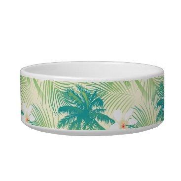 adamfahey Tropical summer palm trees bowl