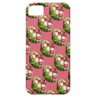 Tropical Summer Picnic Fruit Salad Pink Pattern iPhone SE/5/5s Case
