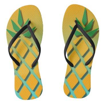 Beach Themed Tropical Summer Pineapple Flip Flops