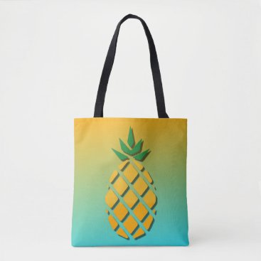 Beach Themed Tropical Summer Pineapple Tote