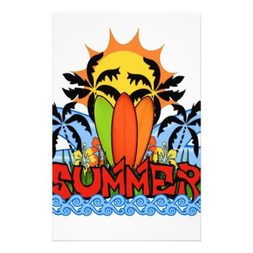 Tropical summer stationery