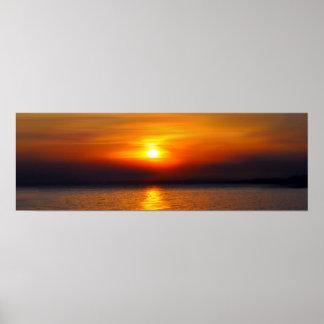 tropical summer sunset poster