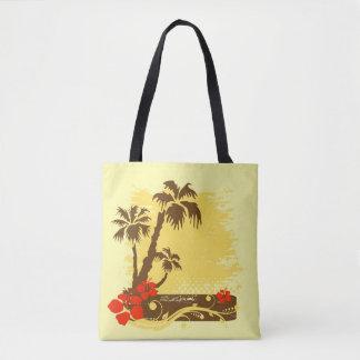 Tropical summer tote bag