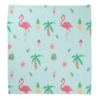 Tropical Summer Turquoise Pattern Bandana