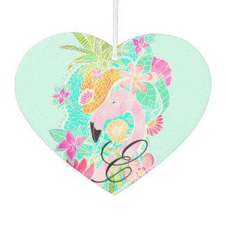 Tropical summer watercolor flamingo pineapple air freshener