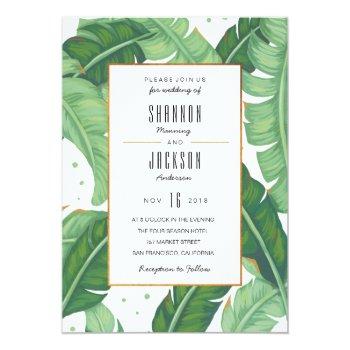 Tropical Summer Wedding Invitation by fourwetfeet at Zazzle