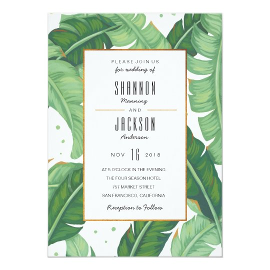 Tropical Summer Wedding Invitation Zazzle Com