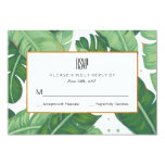 Tropical Summer Wedding Rsvp Card at Zazzle