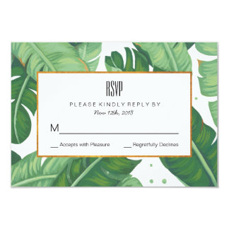 Tropical Summer Wedding RSVP Card