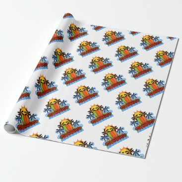 Beach Themed Tropical summer wrapping paper