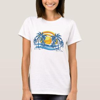 Tropical sun through the palms T-Shirt