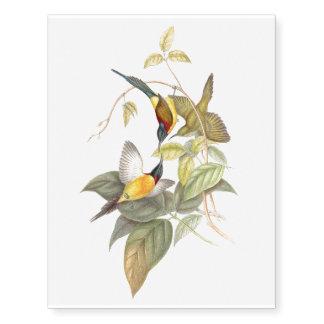 Tropical Sunbird Birds Wildlife Animals Tattoo