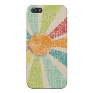 Tropical Sunburst Tangerine Distressed Case For iPhone SE/5/5s