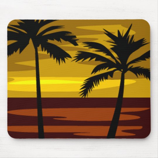 Tropical sundown Mousepad