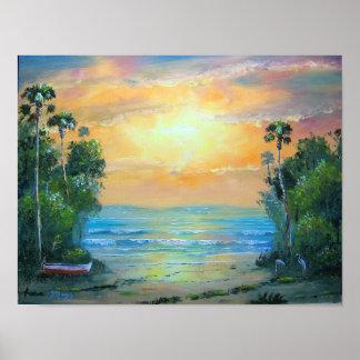 Tropical Sunny Beach Canvas Print by Mazz