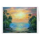 Tropical Sunny Beach Card