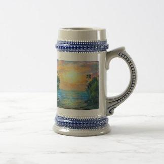 Tropical Sunny Beach Stein Coffee Mug