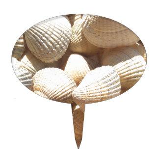 Tropical Sunny Exotic Sea Shells Cake Topper