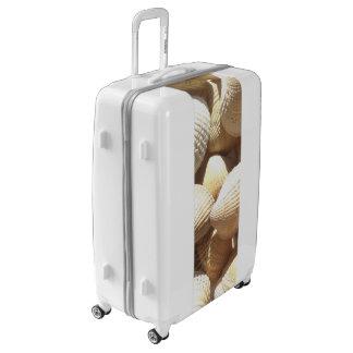 Tropical Sunny Sea Shells Luggage White Suitcase