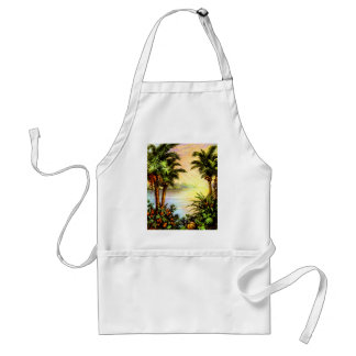 Tropical Sunrise Adult Apron