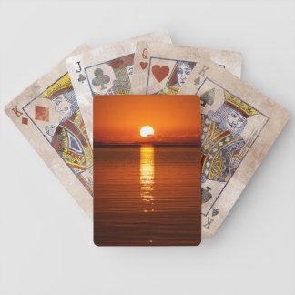 Tropical Sunrise in Orange Bicycle Card Decks